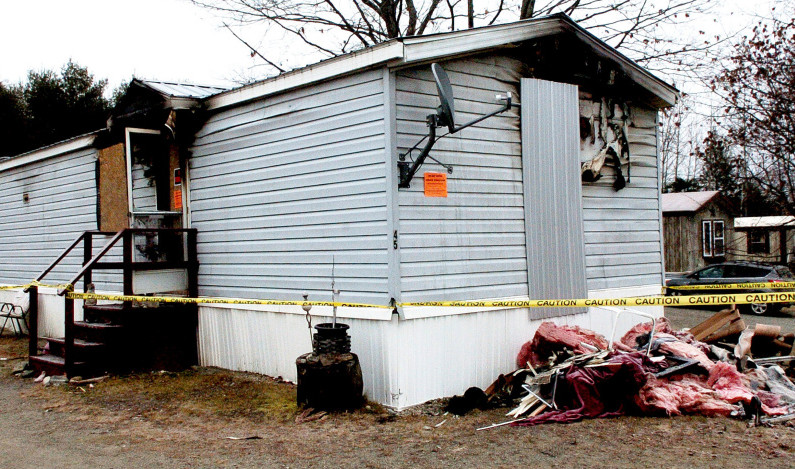 This mobile home at Riverside Terrace in Skowhegan received extensive damage from a fire on Dec. 4, and the resident, Michelle Sweet, died Dec. 15 from injuries sustained in the blaze.