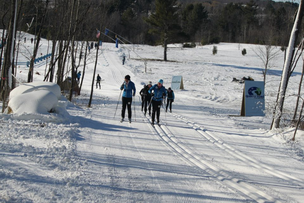 Contributed photo   A group of cross country skiers use the trails at Quarry Road in Waterville.