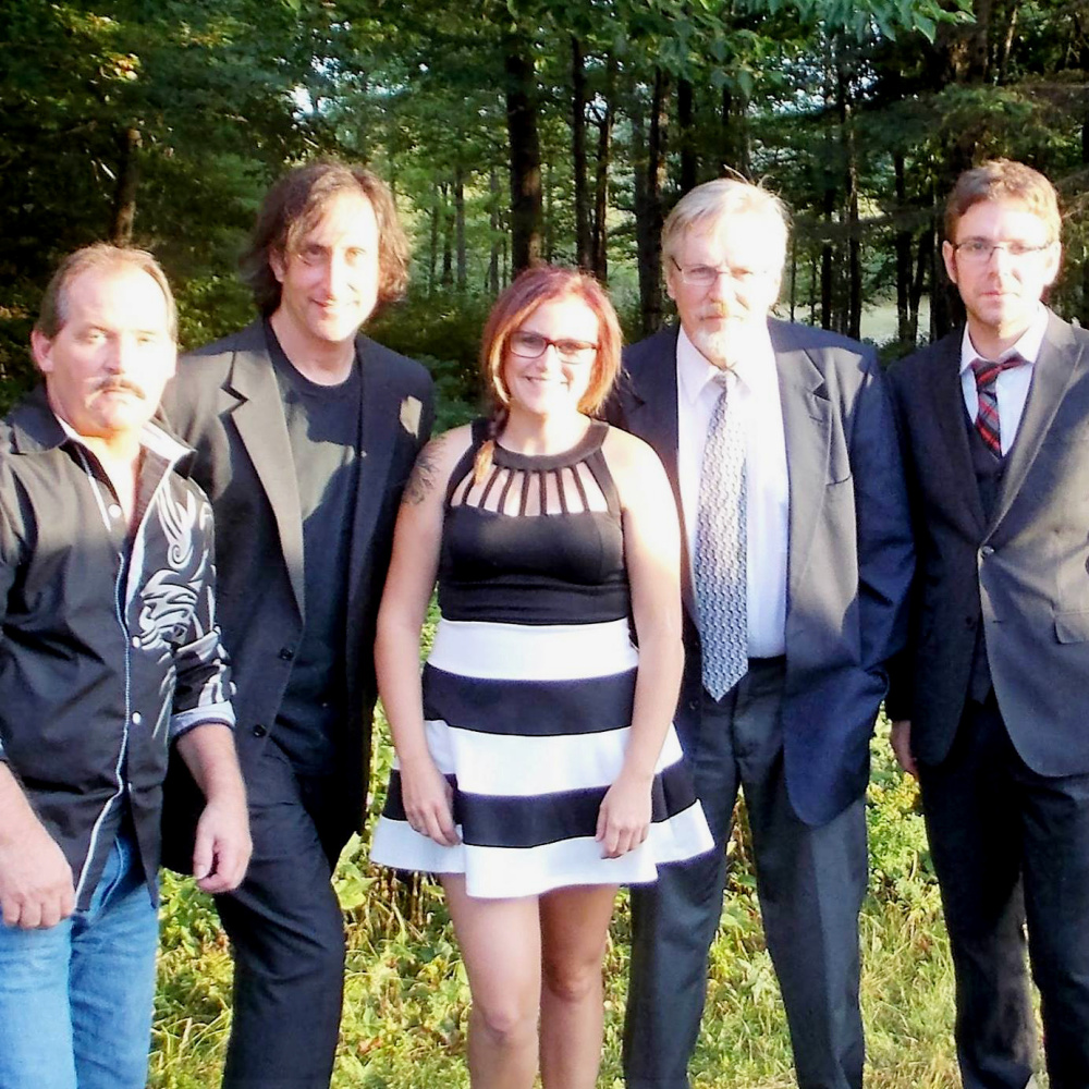 Contributed photo   From left, is John Clossey, Paul Minot, Chelsea Benedict, David Geller and Aaron Vigue.
