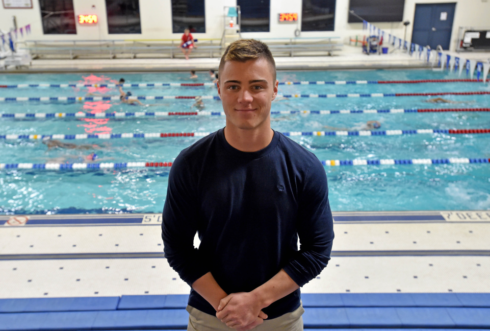 Lawrence senior Zoli Nagy is back swimming competitively for the first time since seventh grade.Nagy recently broke the school's record in the 50 freestyle with a time of 23.71 seconds.