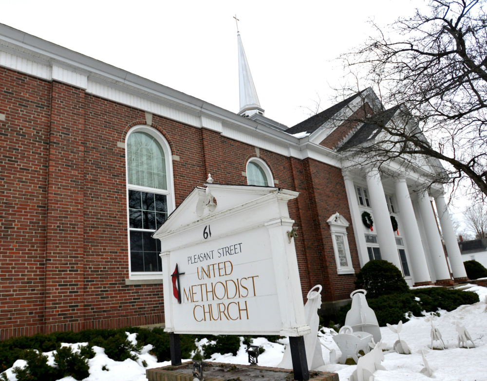 Pleasant Street United Methodist Church, seen here Wednesday, was one of three Waterville churches broken into overnight Tuesday.
