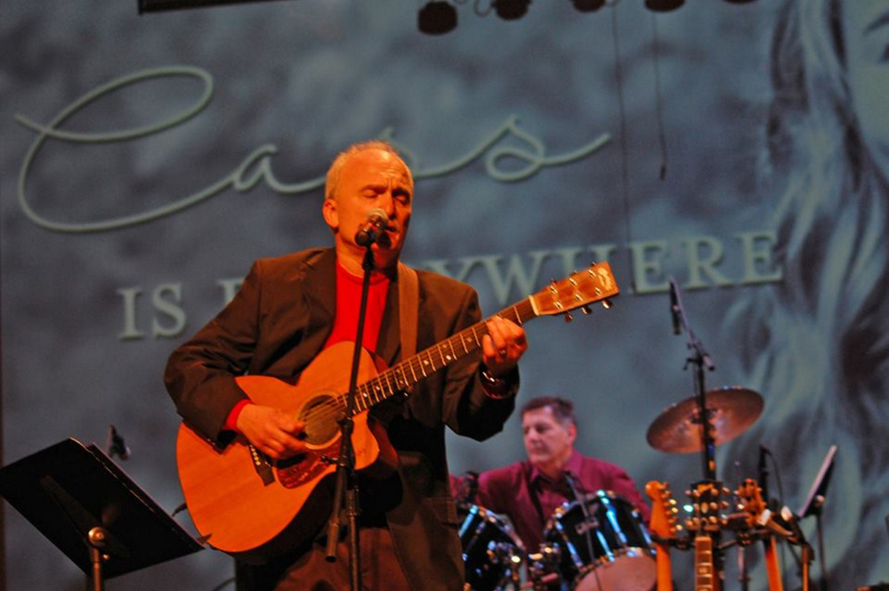 """Steve Fotter and his band perform """"Cass is Everywhere"""" to more than 600 people at the """"Warming Up for Christmas"""" benefit concert in Fairfield on Dec. 3 that raised more than $12,000 for the ShineOnCass Foundation in honor of Cassidy Charette."""