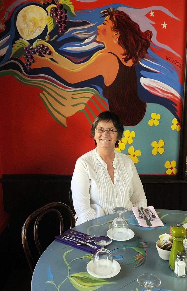 Slates owner Wendy Larson, shown in this 2010 file photo, said moving the Hallowell restaurant to a building she owns next door has been a welcome change.