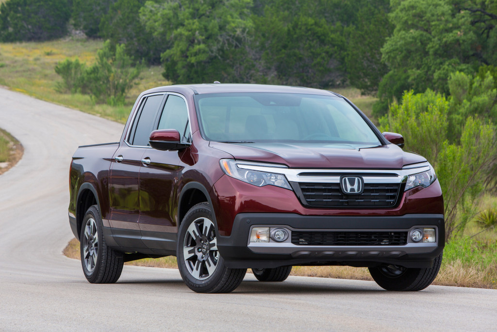 The all-wheel-drive Ridgeline comes with a 2-inch receiver hitch and has a maximum tow rating of 5,000 pounds. The the two-wheel-drive can handle 3,500 pounds.