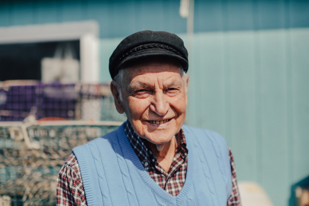 """Leland Merrill, 92, of Portland, is featured in a new online documentary series """"Wharfside: Stories From Portland Harbor's Working Waterfront."""" Photo by Justin Levesque/Courtesy of Galen Koch"""