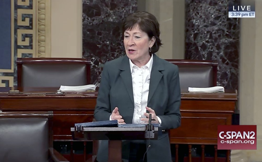 "Sen. Susan Collins said she opposes repealing the ACA without a replacement because ""it risks leaving millions of vulnerable Americans without affordable health insurance."""