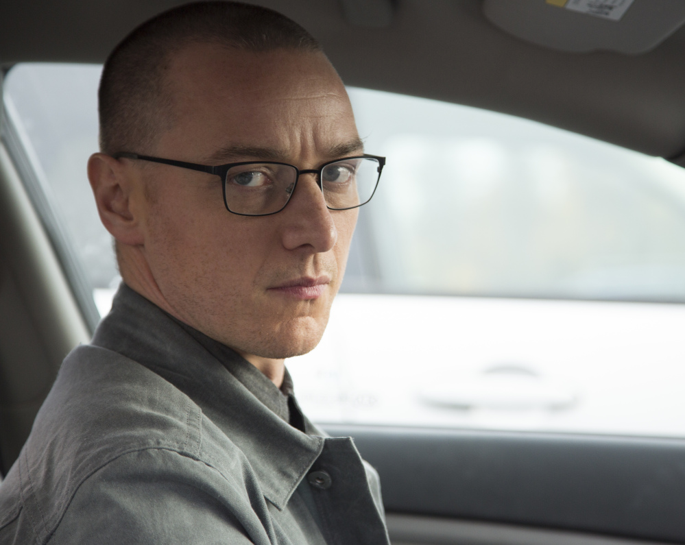 "James McAvoy stars in ""Split,"" about a man with split personalities."