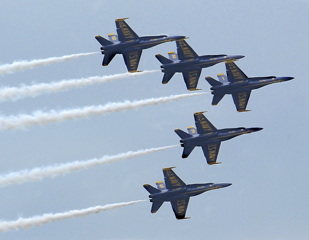 Navy Week will coincide with an appearance by the Navy's Blue Angels precision flying team at the Great State of Maine Airshow in Brunswick in August.