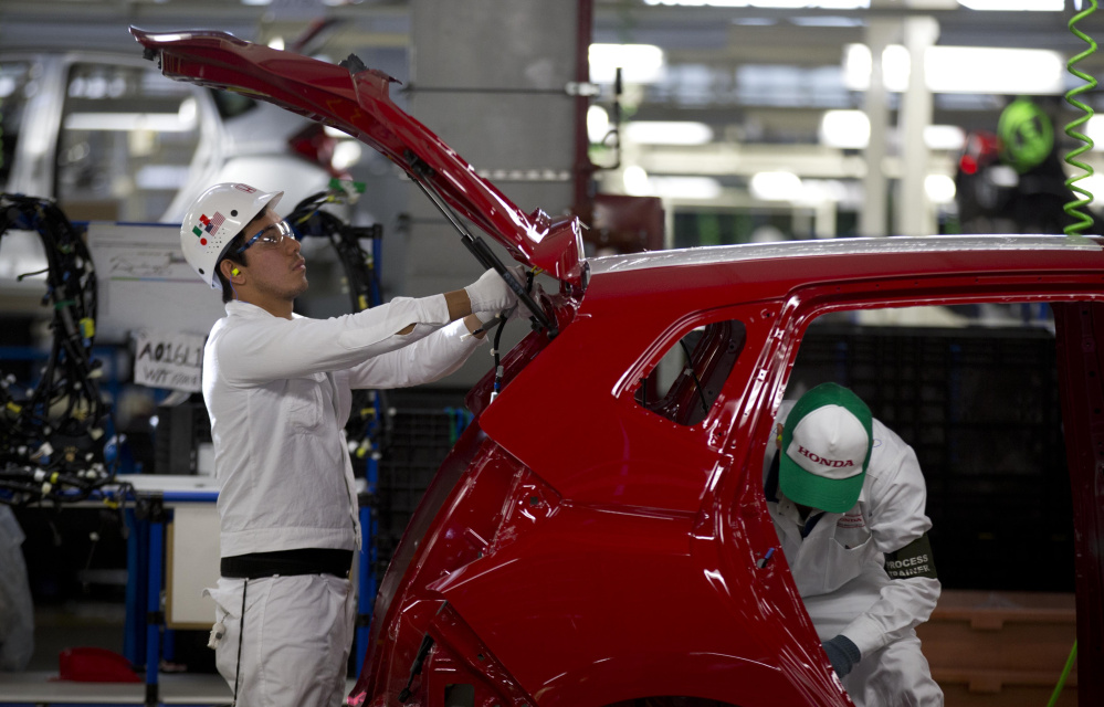 Employees work in the Honda plant in the central Mexican state of Guanajuato. Mexico is the third-largest supplier of imports to the U.S., chiefly vehicles and agricultural products.