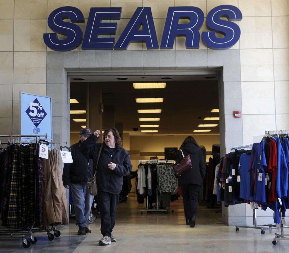 The Sears store at the Turnpike Mall, shown on Thursday, is one of several that are closing nationwide.