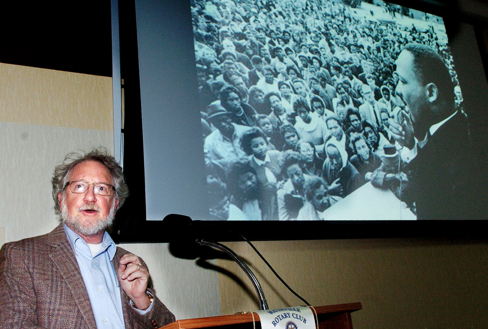Rev. David Anderman was keynote speaker during the Martin Luther King Jr. Community breakfast at the Muskie Center in Waterville on Monday.