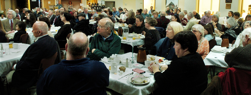 The Muskie Center in Waterville was packed with people for the Martin Luther King Jr. Community breakfast on Monday.
