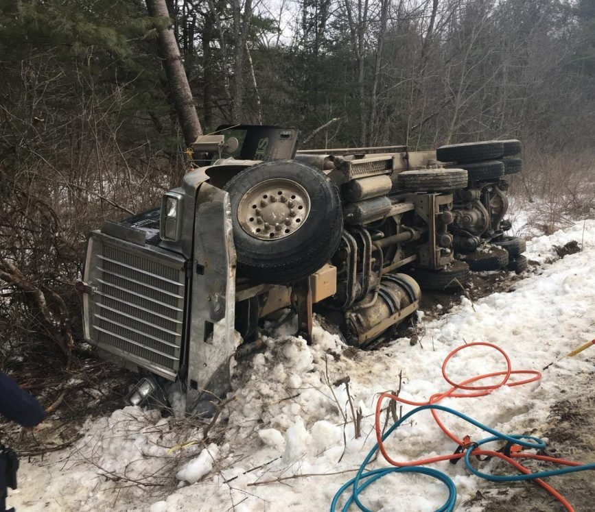 Robert Frith, 62, of West Gardiner, died Friday when the dump truck he was driving in Whitefield went off Doyle Road, overturned and hit a tree.