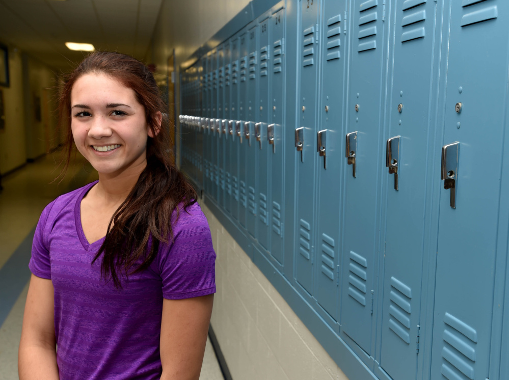 Lawrence High School's Kiana Letourneau poses for a portrait at Lawrence in Fairfield on Thursday.