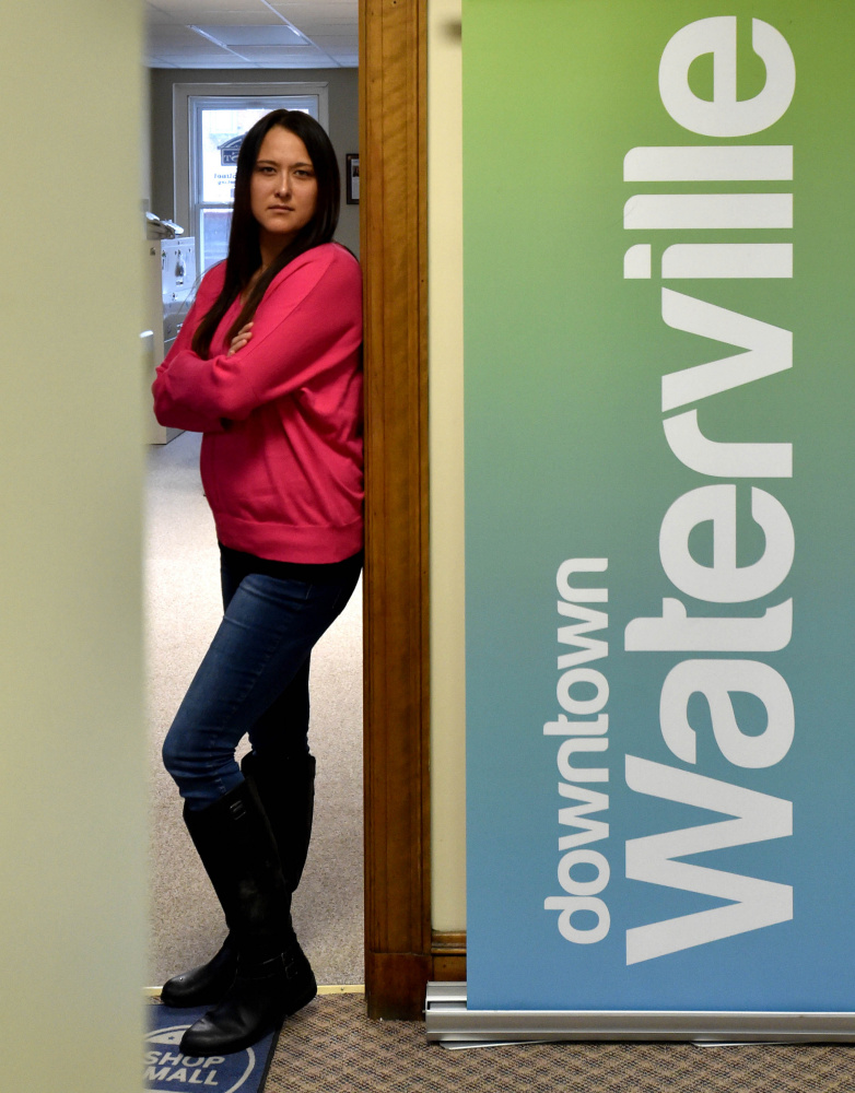 Tracy O'Clair, the new interim executive director of Waterville Main Street, is seen Tuesday at the group's downtown office.