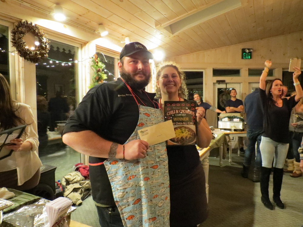 Best Overall Chili winners were  Stone Walton of Forks in the Air and Sarah Taylor of The Shed.