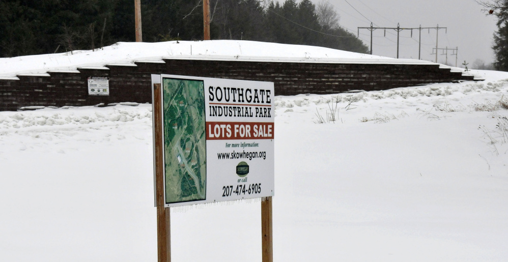 This is the entrance to the Southgate Industrial Park in Skowhegan, where Civil Arms Inc., based in Windham, plans a 12,000- to 15,000-square-foot warehouse with office spaces and conference room.