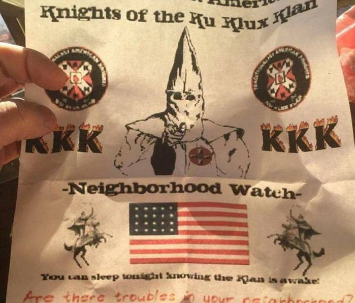 This flier was found in neighborhoods in Augusta and Freeport Monday morning.