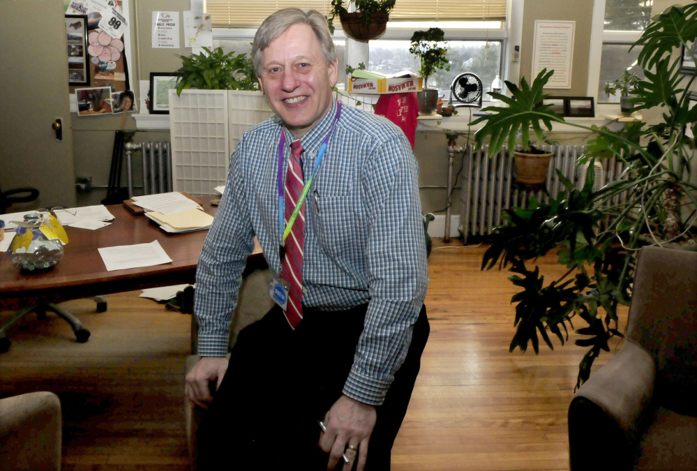 Superintendent Gary Smith, in his Regional School Unit 18 office in Oakland, will retire at the end of the school year after serving in the role for nearly eight years.