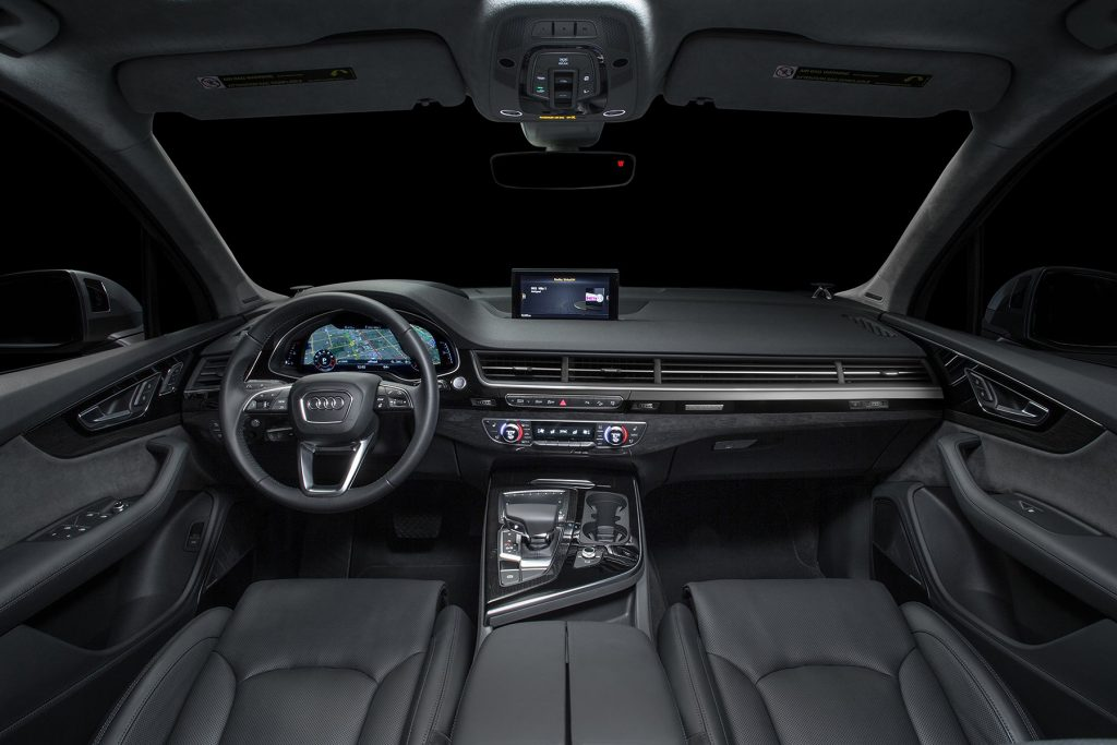 The driver and passenger seats in the Audi Q7 are a marvel of ergonomic pleasure. The leg and head room in the second and third rows was Business Class impressive.