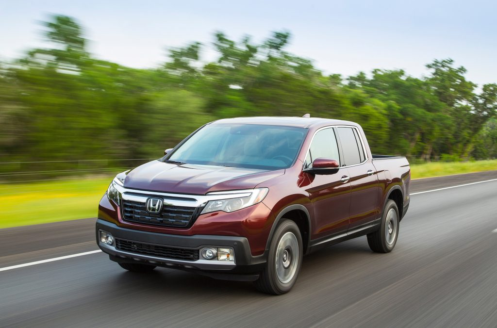The 2017 Honda Ridgeline has a 3.5-liter V-6 engine and comes in front-wheel-drive and all-wheel-drive configurations.