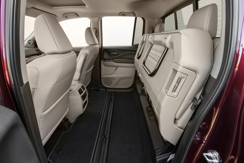Front and rear legroom and headroom are generous, and back seat passengers will like having their own climate control zone.