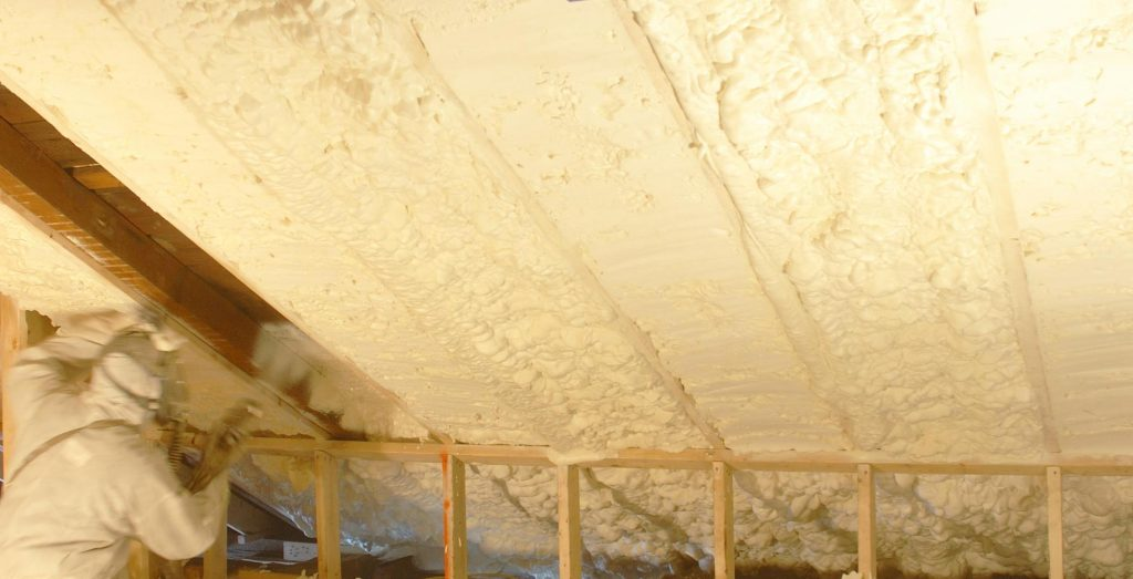 Spray foam insulation creates an effective air barrier wherever it is applied.