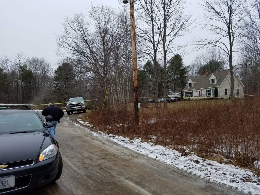 Waldoboro police remained  on the scene of a fatal shooting into Sunday morning.