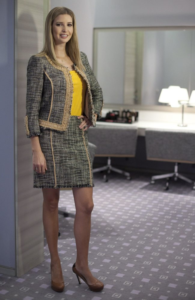Ivanka Trump models an outfit to promote her clothing line in Toronto. Nordstrom said it will stop selling Ivanka Trump clothing and accessories and that the decision was based on the sales performance of the first daughter's brand.