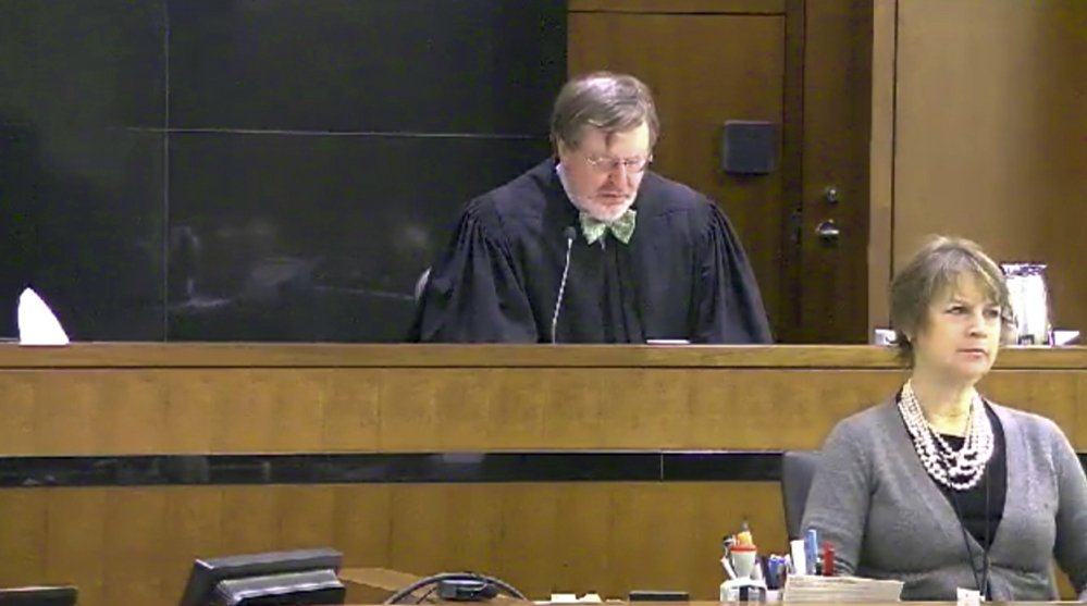 Judge James Robart listens during a case at Seattle Courthouse in 2013 in Seattle. Robart placed a nationwide hold on President Trump's executive order banning  travel to the United States by migrants from seven Muslim-majority countries on Friday.