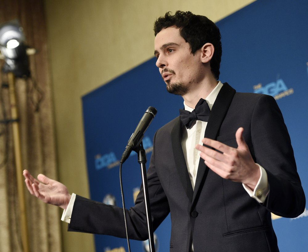 Damien Chazelle, winner of the Directors Guild award for