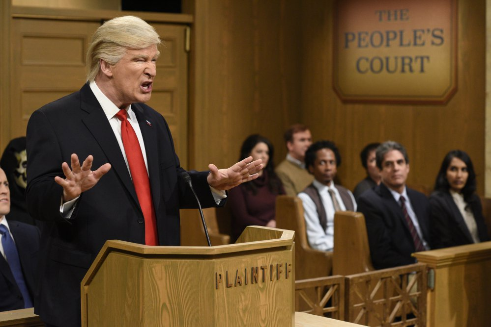 "Host Alec Baldwin impersonates President Trump on ""Saturday Night Live."""