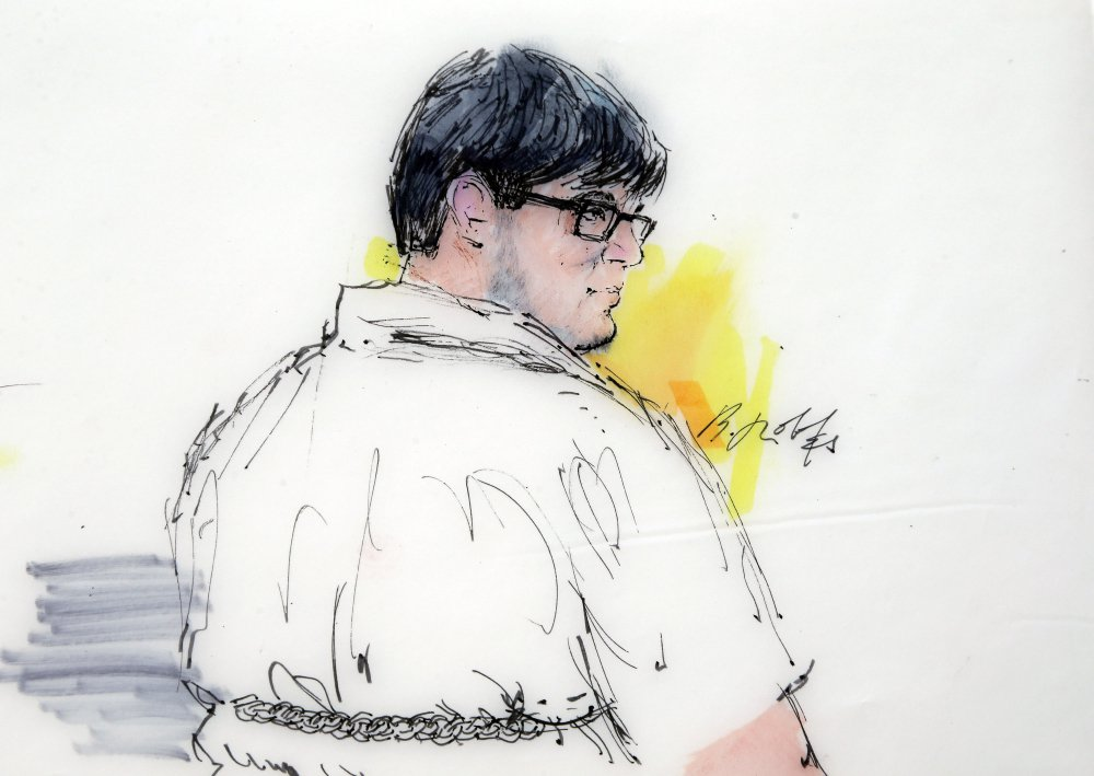 Enrique Marquez Jr., 25, shown in a courtroom file sketch, pled guilty to conspiring with Syed Rizwan Farook in 2011 and 2012 to provide material support to terrorists.