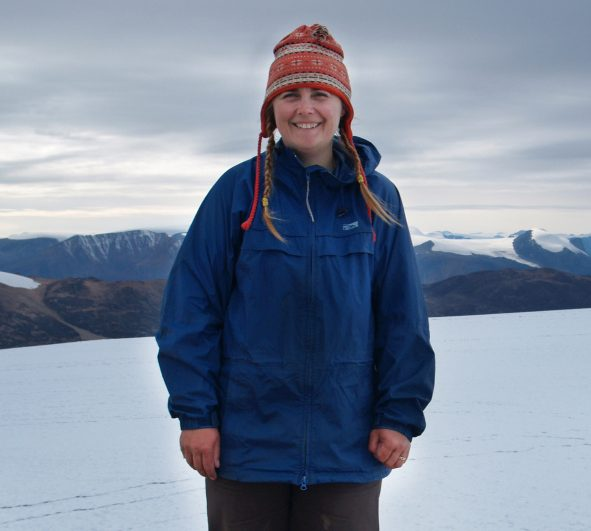 Brenda Hall, seen here in Greenland.