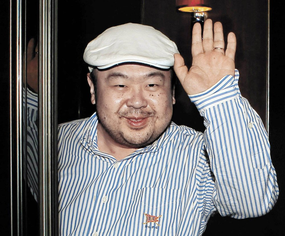 Kim Jong Nam, the eldest son of then-North Korean leader Kim Jong Il, waves after his first-ever interview with South Korean media in Macau in 2010.