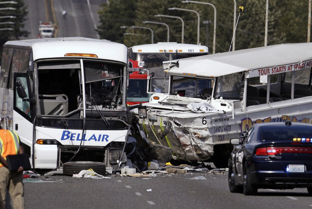 "A duck boat and a charter bus collided in Seattle in 2015, killing five college students. Afterward, Ride the Ducks of Seattle said it stopped using its older ""stretch ducks"" and added road cameras and a second worker to narrate tours."