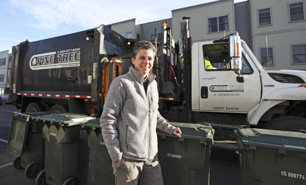 Julie Rosenbach joins the crew of a trash truck for a ride-along.