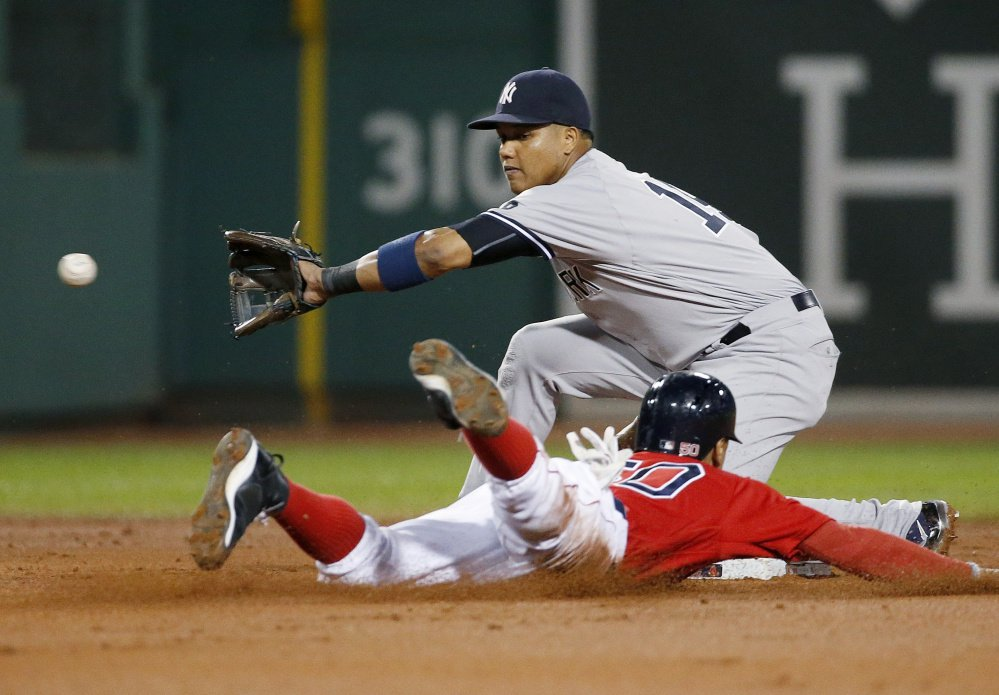 Mookie Betts led the Red Sox with 26 stolen bases in 2016 and is expected to run more this season. Boston's lineup lost a lot of production with the retirement of David Ortiz and the team will try to replace some of it by stealing more bases.