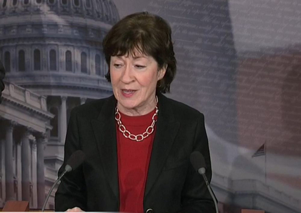 Sen. Susan Collins is one of a small group of Republican senators who can stand between President Trump and policies that could do real harm to Maine communities.