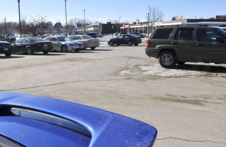 The Waterville Planning Board on Monday discussed a pre-application document about the proposed Colby College residential complex in this corner of The Concourse parking lot in downtown Waterville.