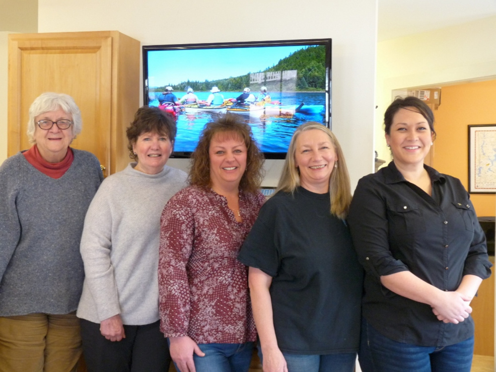 The Rangeley Lakes Chamber of Commerce held its annual meeting Jan. 26 at the Country Club Inn. Election results were announced. Officers include, from left are Joanne Dunlap, new chamber president; Margery Jamison, new vice president; Marsha Morton, secretary; Karen Seaman, treasurer; and Meagan Vryhof, member-at-large.