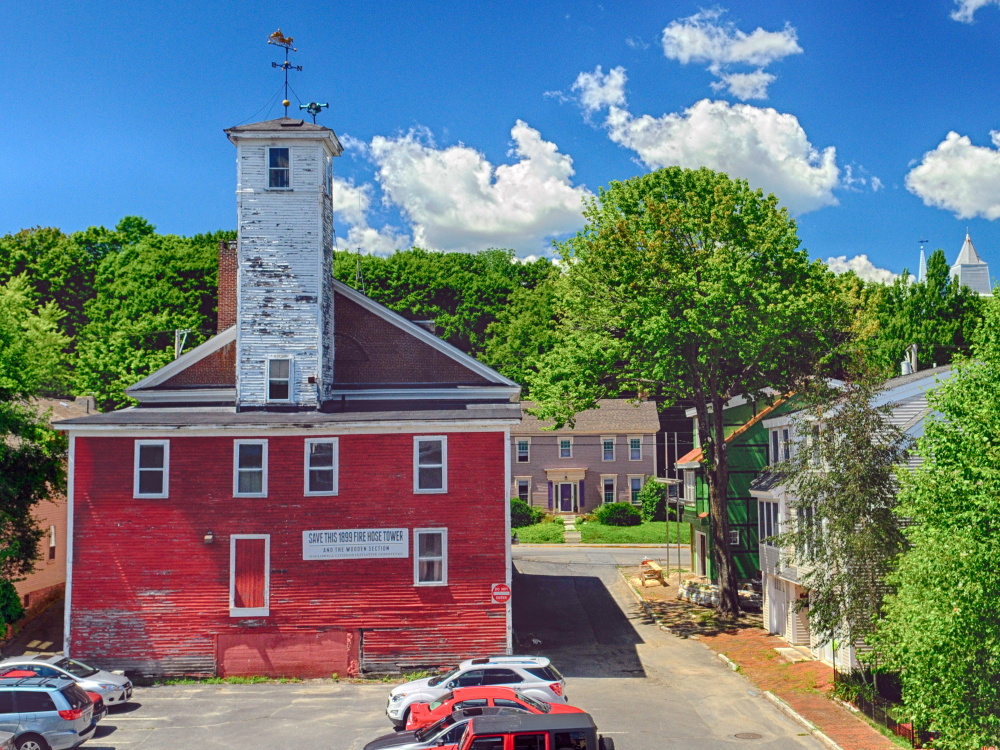 The back of the Hallowell Fire Station, which is no longer adequate to accommodate modern firefighting equipment.