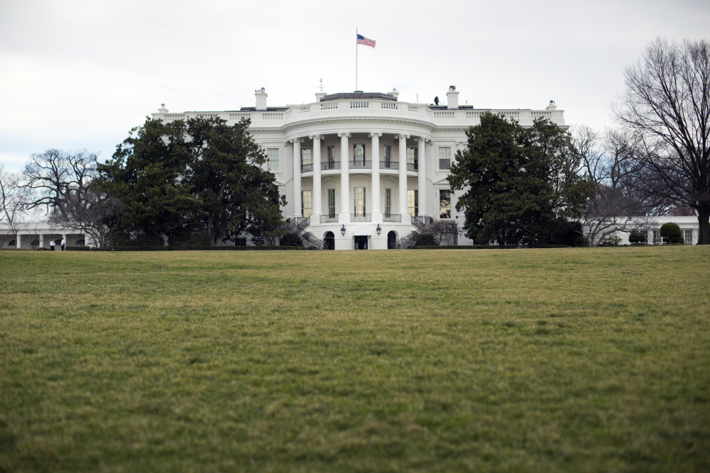 In this photo taken Feb. 2, 2017, the White House in Washington as seen from the South Lawn. Public White House tours that had been temporarily suspended, which is typical when there's a new president will resume on March 7. (AP Photo/Pablo Martinez Monsivais)