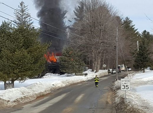 The house fire on Mt. Pisgah Road in Monmouth rekindled around 9 a.m., drawing another response from area firefighters.