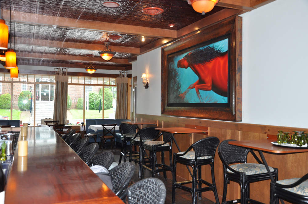 The inside of the Forks in the Air Mountain Bistro in Rangeley, which opened in July 2013.