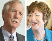 Sens. Angus King and Susan Collins