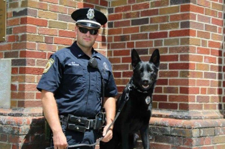Kevin Theriault and his dog, Trigger, have worked on multiple drug searches in Greater Portland.
