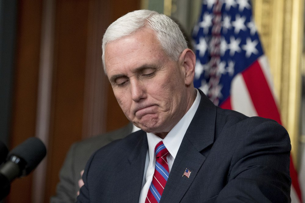 Vice President Pence, seen at the swearing-in of Energy Secretary Rick Perry on Thursday, is no longer using a private email account, his spokesman says.