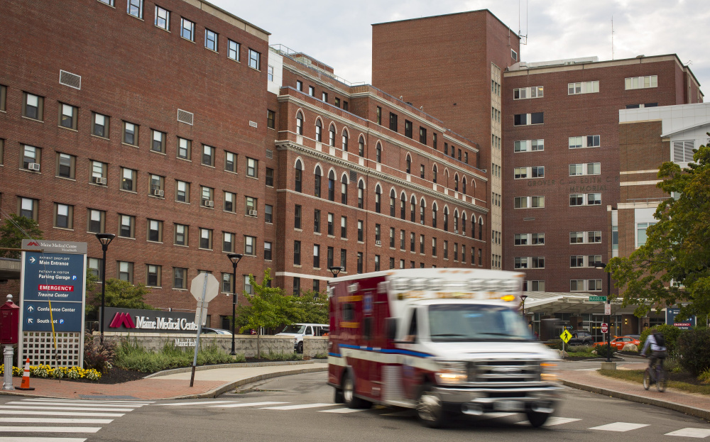 Maine Medical Center's main entrance, now on Bramhall Street, will be moved to Congress Street as part of a $512 million expansion project.