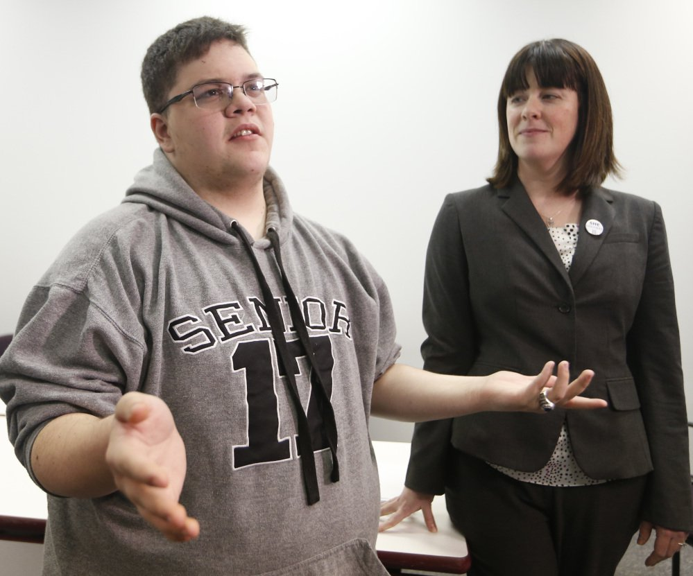 Gavin Grimm, left, a transgender student at Gloucester County High School in Virginia, sued to be allowed to use the boys' bathroom at his school.